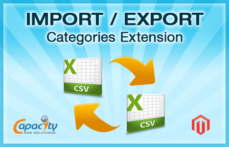 Magento Import Export Categories Extension