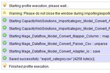 Magento Import Export Categories Extension