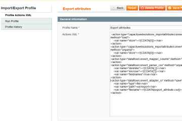 Magento Import Export Products Attributes Extension