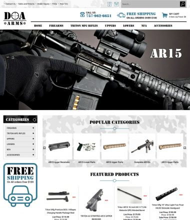 DOA Arms GUN and Firearms Volusion store